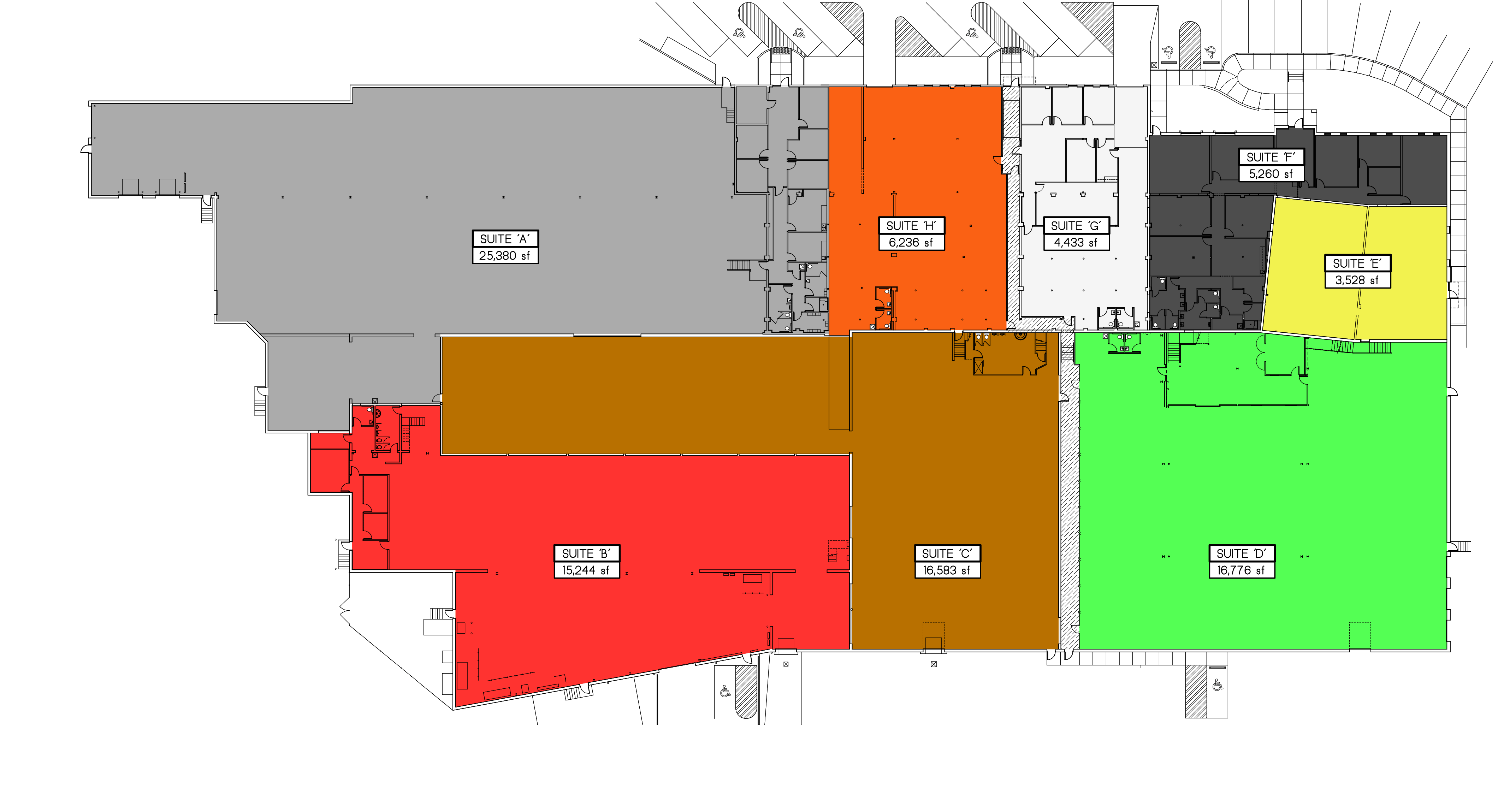 Whole complex floorplan